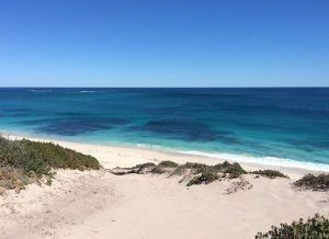 The view across Alkimos Beach. The beautiful, pristine Indian Ocean.