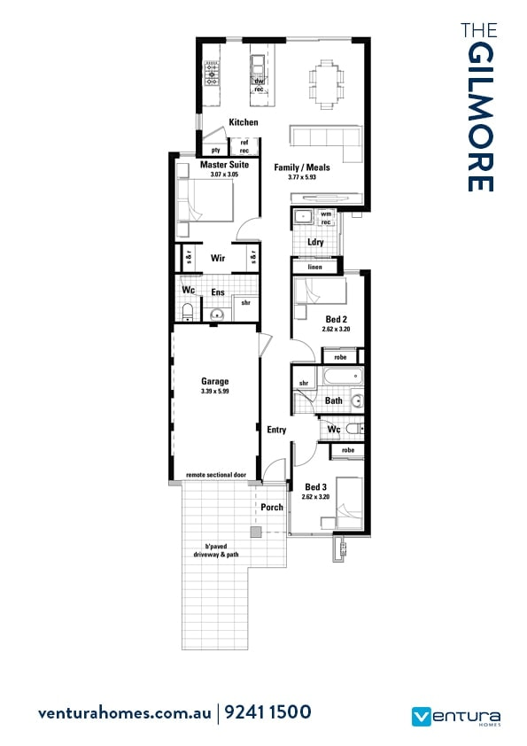 The Gilmore floorplan by Ventura Homes