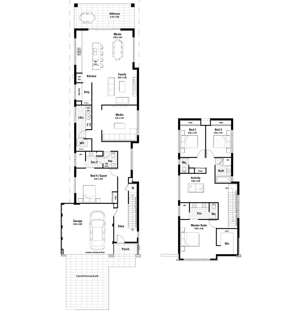 The Milverton Home Design Floorplan by Ventura Homes