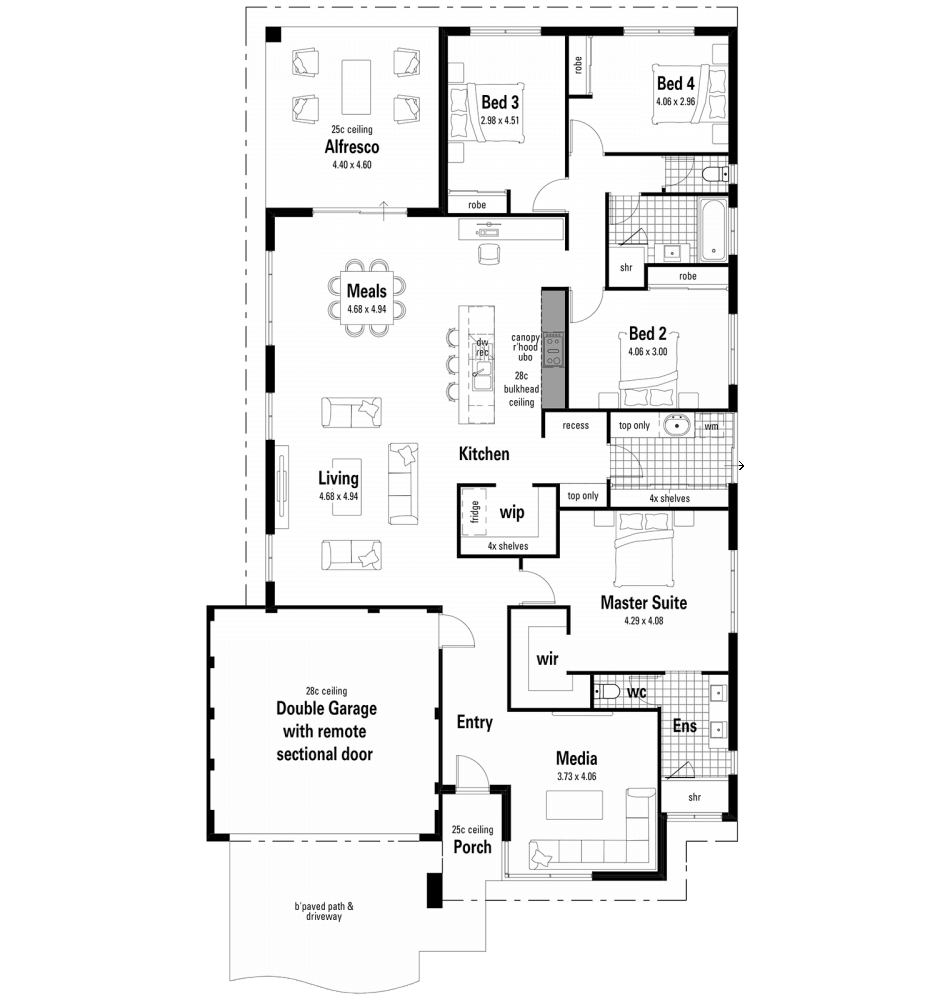 The Showstopper Home Design Floorplan by Ventura Homes