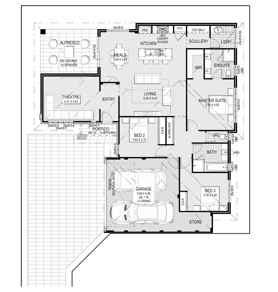 The Tenerife Home Design Floorplan by Ventura Homes
