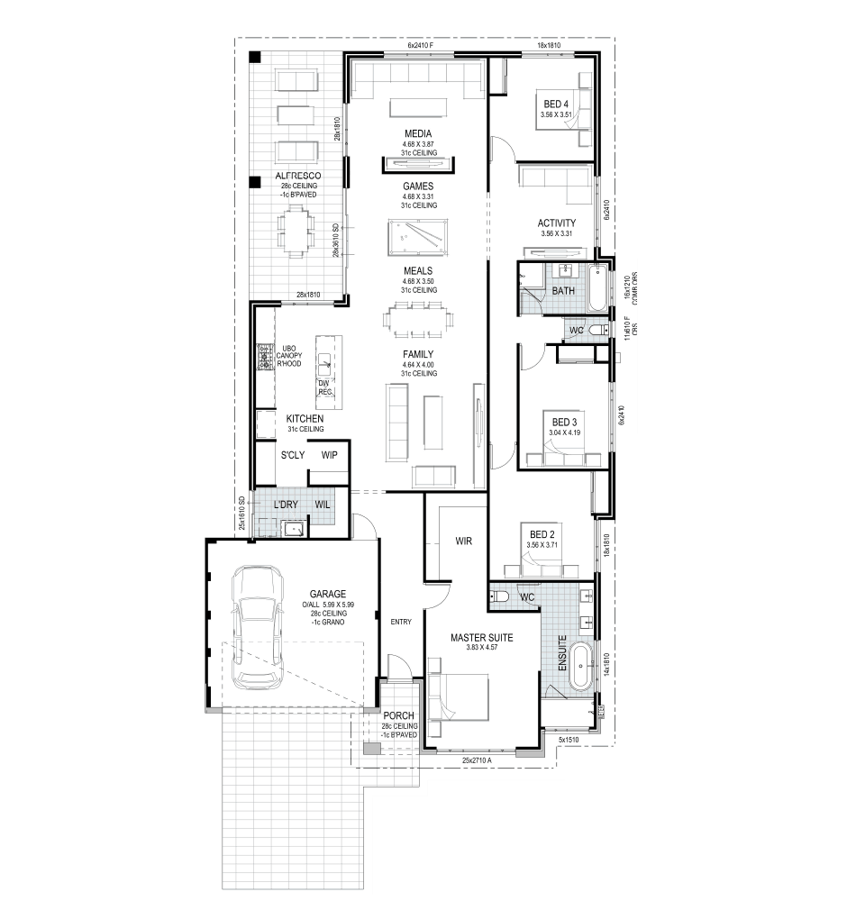 The Australis Home Design Floorplan Listing By Ventura Homes